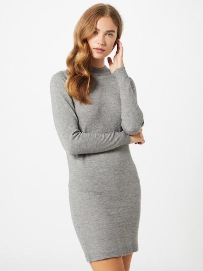 OBJECT Úpletové šaty - šedá, Model/ka
