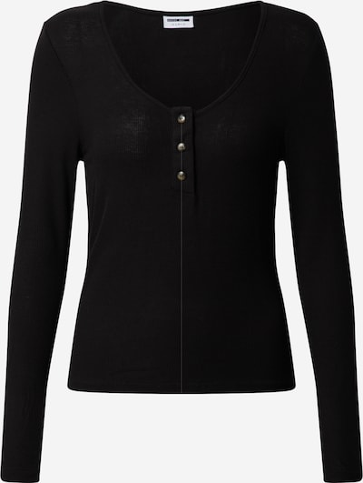 Noisy may Shirt 'NMHENLEY L/S TOP NOOS' in schwarz, Produktansicht