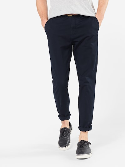 JACK & JONES Chino hlače 'JJICODY JJSPENCER WW NAVY BLAZER NOOS' | mornarska barva, Prikaz modela