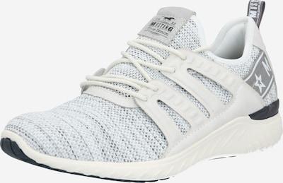 MUSTANG Sneaker in hellgrau / weiß / offwhite, Produktansicht