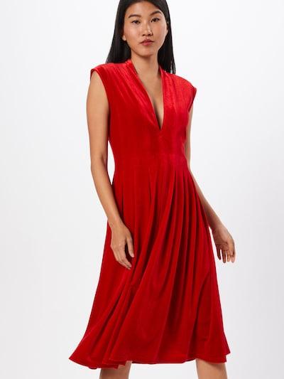 VILA Kleid 'VIZELDA S/L DRESS/DC' in rot, Modelansicht