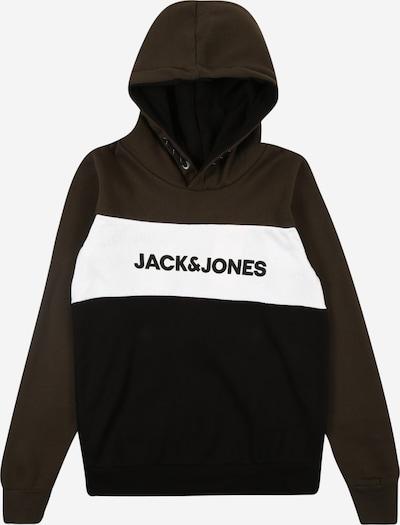 Jack & Jones Junior Sweatshirt in khaki / schwarz / weiß, Produktansicht
