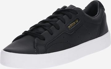 ADIDAS ORIGINALS Rövid szárú edzőcipők 'SLEEK W' - fekete