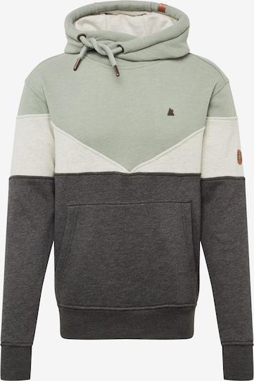 Alife and Kickin Sweat-shirt 'Jasper' en gris chiné / menthe / blanc chiné: Vue de face