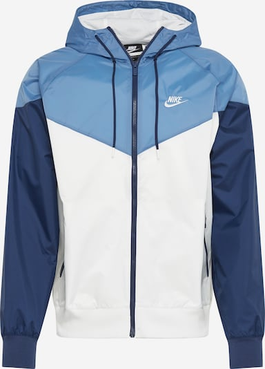 Nike Sportswear Prehodna jakna | svetlo modra / temno modra / bela barva, Prikaz izdelka