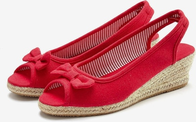 LASCANA Sandale in rot, Produktansicht