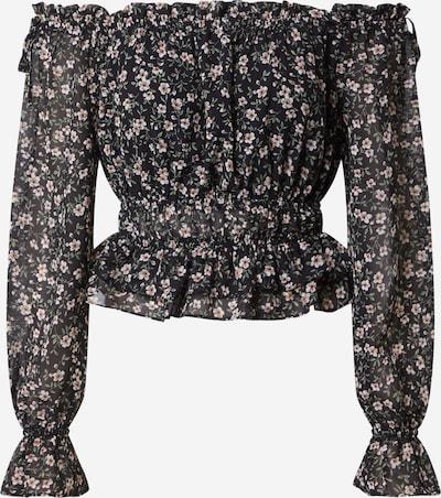 Missguided Shirt in altrosa / schwarz / weiß, Produktansicht