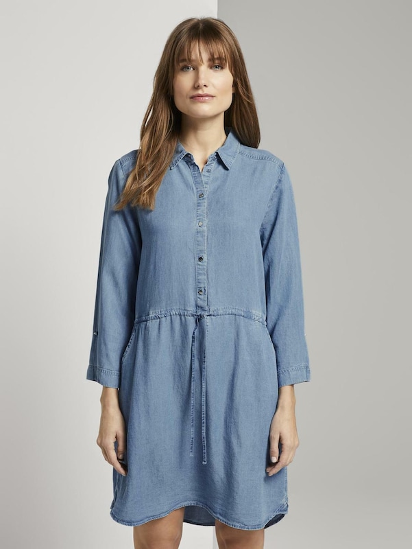 TOM TAILOR DENIM Hemdkleid in blue denim, Modelansicht