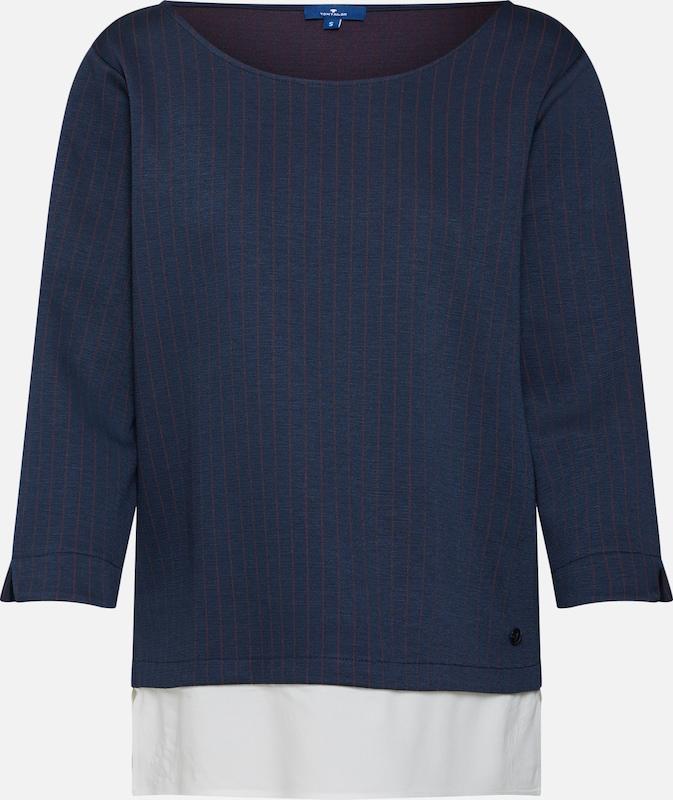 Tom Sweat Blanc shirt Bleu MarineRouge Tailor En fvb6mgYI7y