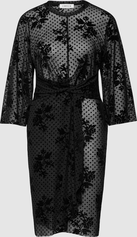 EDITED Kleid 'Sharon' in schwarz  Markenkleidung für Männer und Frauen
