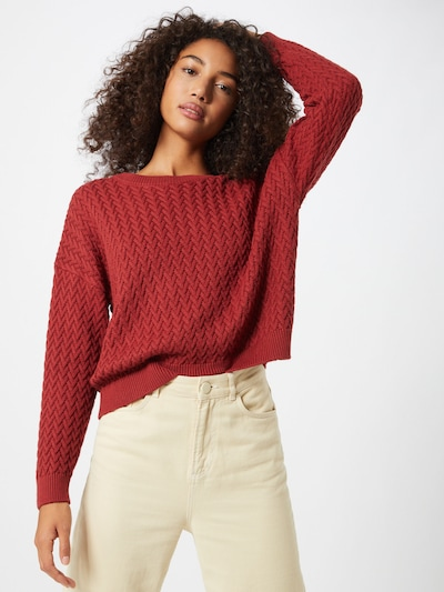 ABOUT YOU Pullover 'Layla' in rot / rostrot, Modelansicht