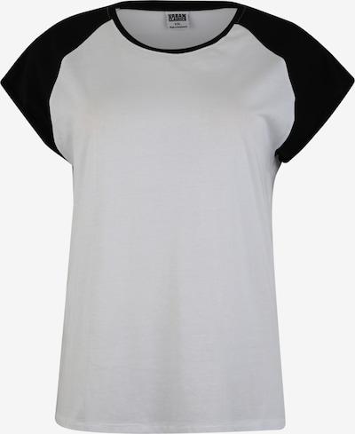 Urban Classics Curvy T-Shirt 'Ladies Contrast Raglan' in schwarz / weiß, Produktansicht