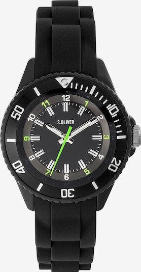 s.Oliver Uhr 'SO-3636-PQ' in schwarz: Frontalansicht