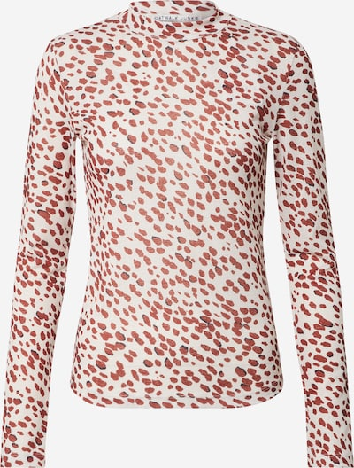 CATWALK JUNKIE Shirt 'Nicks' in creme / rot, Produktansicht