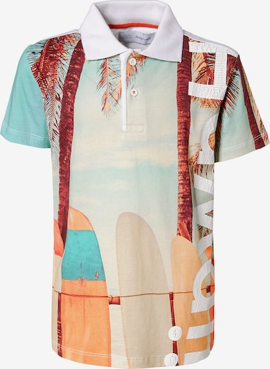 Desigual Poloshirt in beige / blau / rot, Produktansicht