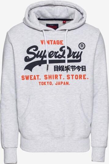 Superdry Mikina 'Shop Duo' - svetlosivá / oranžovo červená / čierna, Produkt