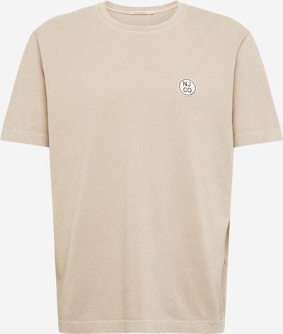 Nudie Jeans Co T-Shirt 'Uno NJCO Circle' en beige, Vue avec produit