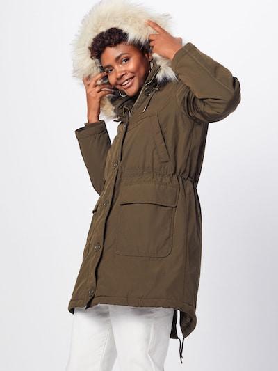 Ilga rudeninė-žieminė striukė 'LUXE' iš GAP , spalva - alyvuogių spalva: Vaizdas iš priekio
