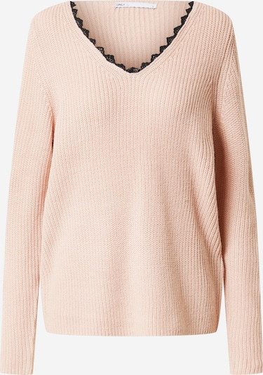 ONLY Pullover 'JENNIE' in rosa / schwarz, Produktansicht
