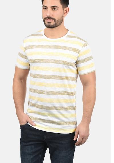 !Solid Rundhalsshirt 'Tet' in gelb: Frontalansicht