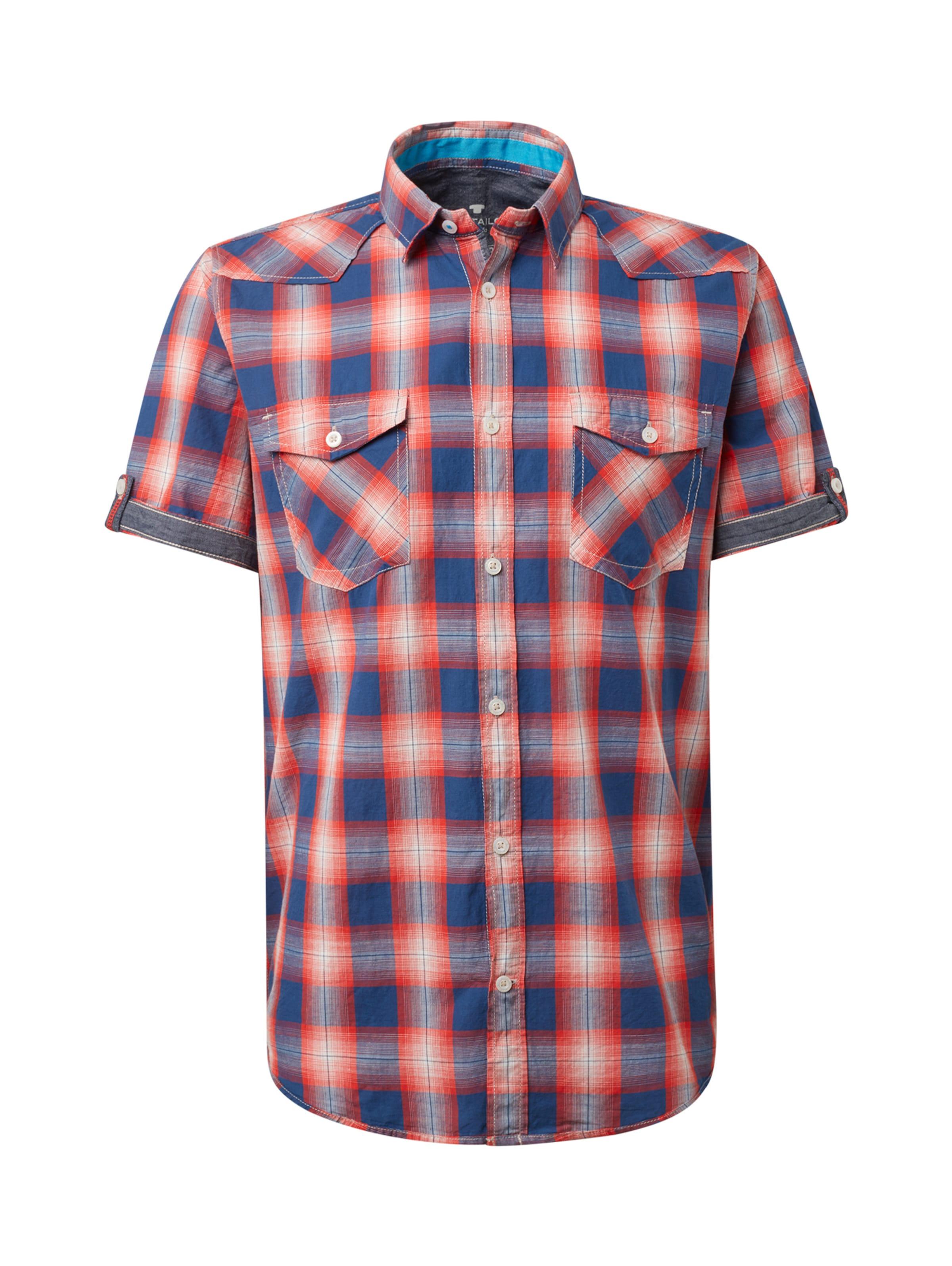 BlauRot In Kurzarmhemd Tom Tailor Tom Tailor mn0wvN8
