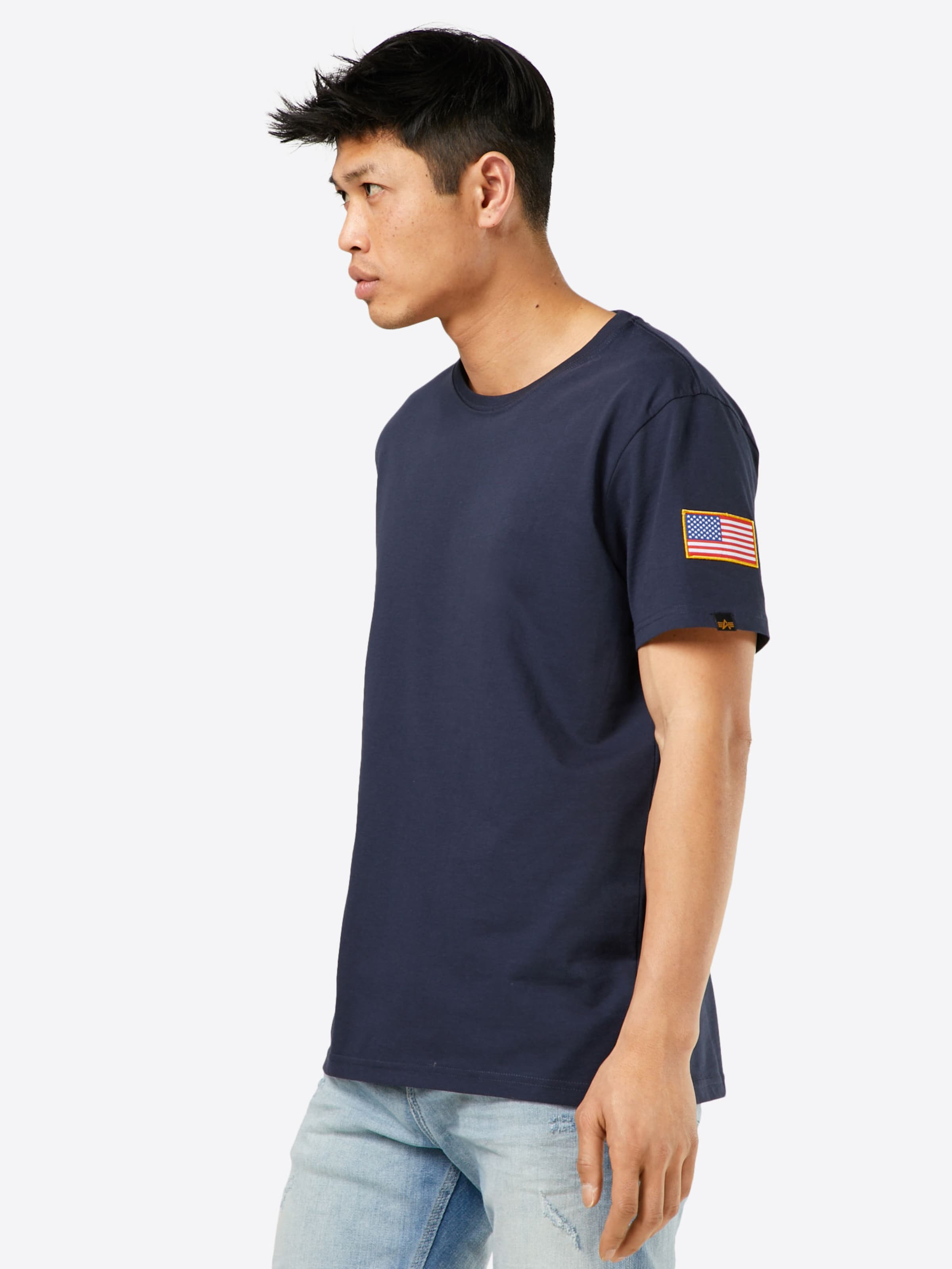 Industries 'nasa' Alpha Dunkelblau In Shirt wnXO8Pk0