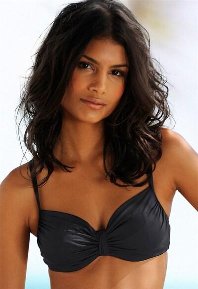 LASCANA Bikini Top 'LS Nostalgie' in schwarz, Modelansicht
