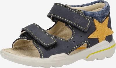 Pepino Chaussures ouvertes en bleu foncé / jaune, Vue avec produit