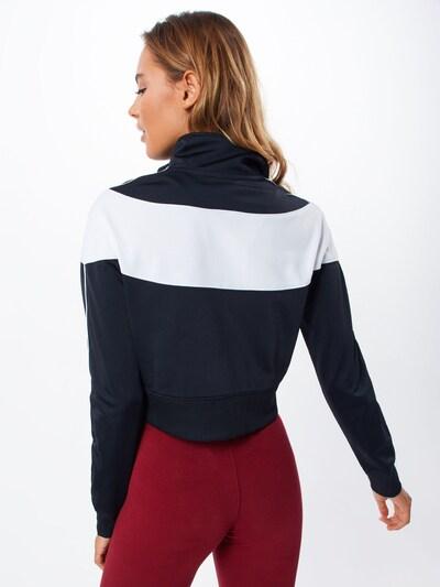 NIKE Sportjas in de kleur Zwart / Wit: Achteraanzicht
