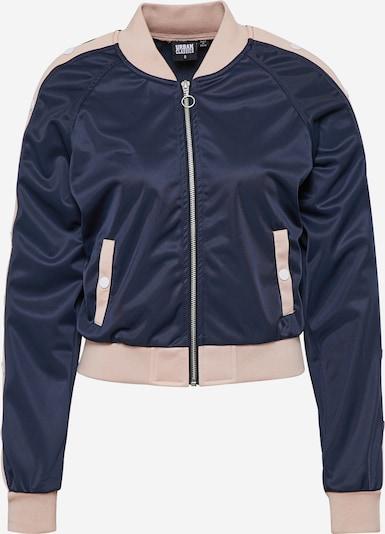 Urban Classics Jacket 'Button Up Track' in navy / hellpink, Produktansicht