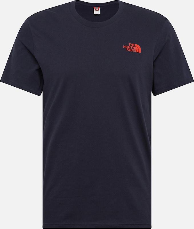 FoncéOrange En Bleu Face T The North Dome' shirt 'simple n0yNP8wOvm