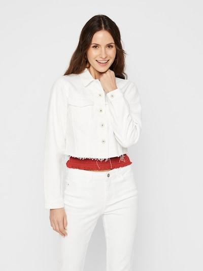 PIECES Jacke in weiß, Modelansicht