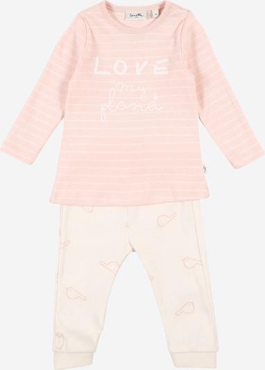 Sanetta Pure Pyjama in rosa / offwhite, Produktansicht