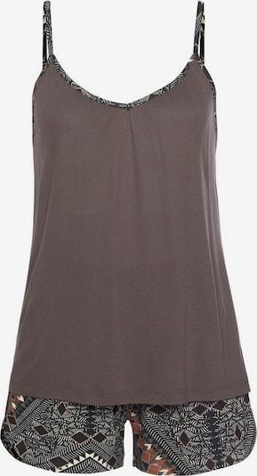 Pijama LASCANA pe maro / verde închis, Vizualizare produs