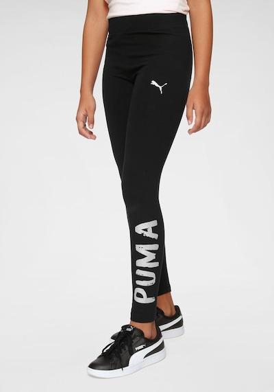 PUMA Leggings in schwarz / weiß: Frontalansicht