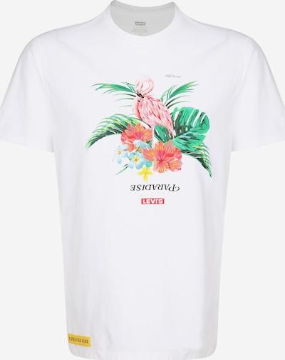 LEVI'S T-Krekls 'Graphic' pieejami jauktu krāsu / balts, Preces skats