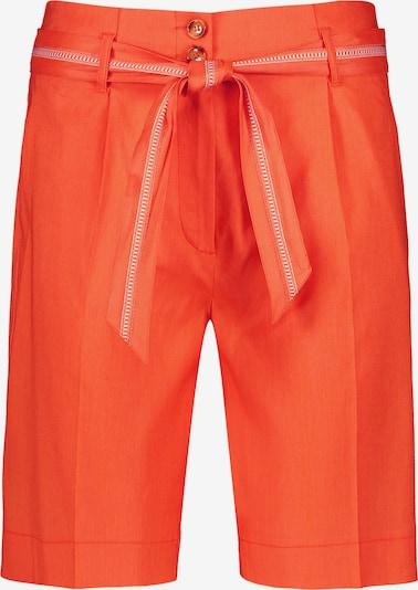 TAIFUN Hose Freizeit verkürzt Bermuda aus Leinen-Mix Shorts High in orangerot, Produktansicht