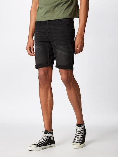 Only & Sons Shorts 'onsPLY' in black denim, Modelansicht