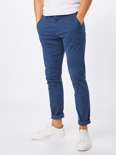 Lindbergh Chino nohavice 'AOP chinos W. belt' - vodová, Model/-ka