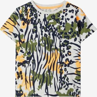 NAME IT T-Shirt in gelb / hellgrau / grün / schwarz, Produktansicht