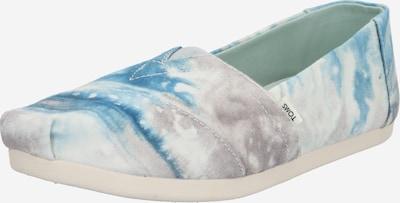 TOMS Slipper in blau / grau / weiß, Produktansicht