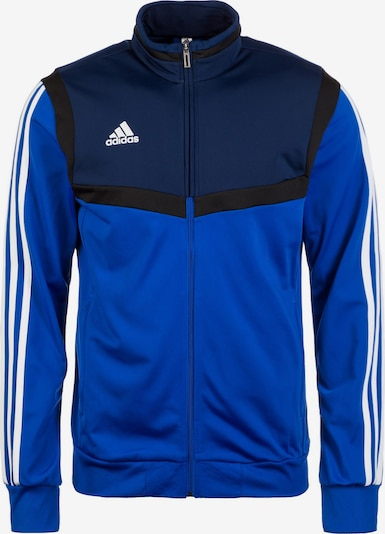 ADIDAS PERFORMANCE Trainingsjacke 'Tiro 19' in blau / dunkelblau / weiß: Frontalansicht