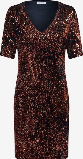 PIECES Kleid 'PCJUDIE SS SEQUINS DRESS' in bronze / schwarz, Produktansicht