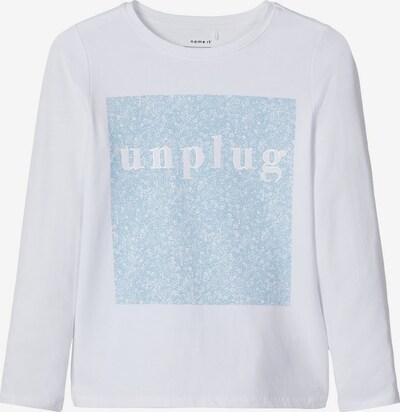 NAME IT Shirt in hellblau / weiß, Produktansicht