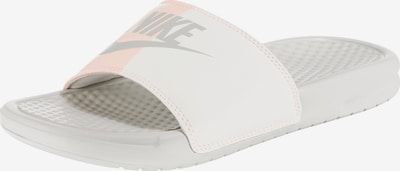 Nike Sportswear Badeschuh 'Benassi Just Do It' in grau / altrosa / weiß, Produktansicht