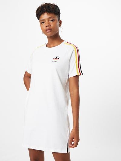 ADIDAS ORIGINALS Kleid in gelb / rot / schwarz / weiß, Modelansicht