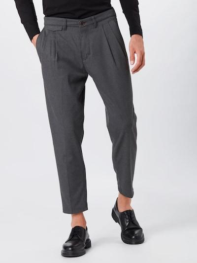 DRYKORN Plisované nohavice 'NOSH' - sivá: Pohľad spredu