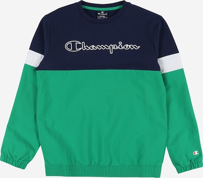 Champion Authentic Athletic Apparel Sweat 'Crewneck Sweatshirt' en bleu nuit / vert, Vue avec produit