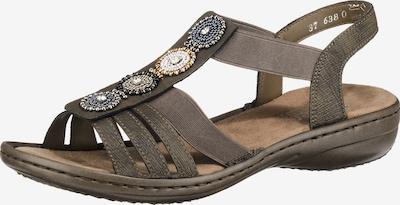 RIEKER Sandaler med rem i taupe, Produktvisning