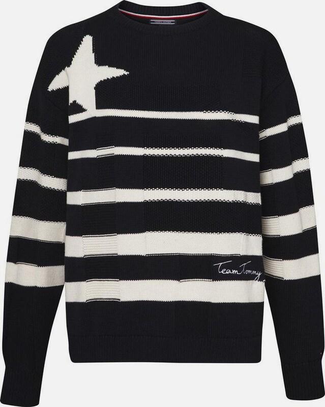 TOMMY HILFIGER Pullover,MIDNIGHT / SNOW WHITE